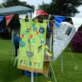 Some of the Pilots Banners made specially for the day.