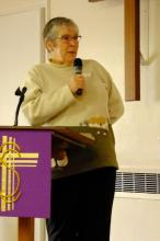 Revd Lesley Moseley from Westgate New Church