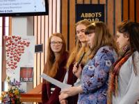 The young people present their experience of Youth Assembly